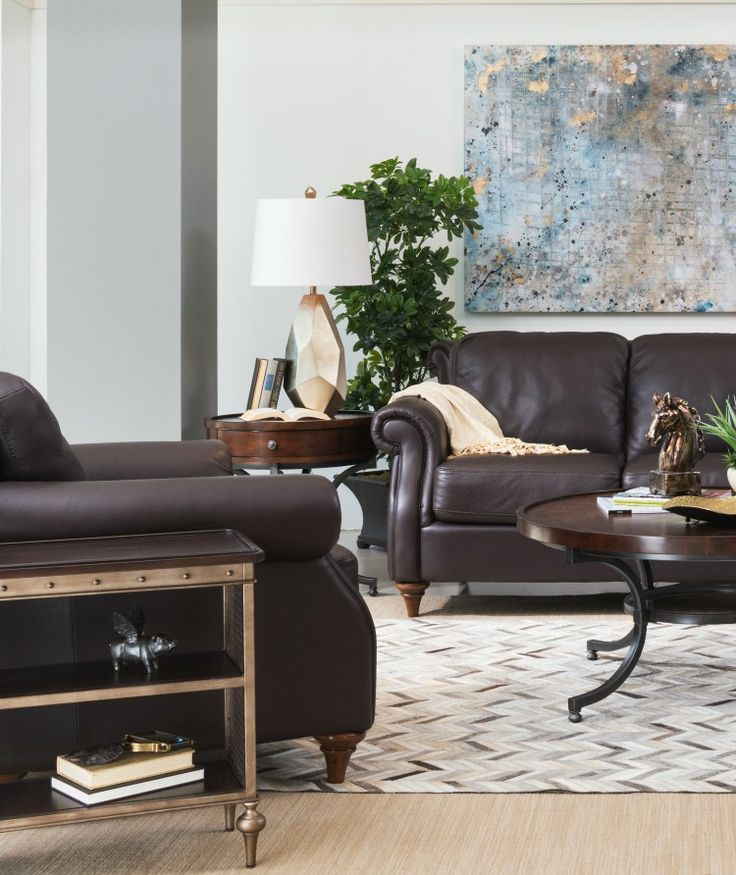 10 Living Rooms We Love: 10+ Ideas About Brown Leather Furniture On Pinterest