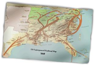 The UnderGround Railroad Map. Many freedom-seeking African- Americans used the North Star to guide them, since it never moved across the sky.    #History #Underground Railroad   Learn More    http://www.uhaul.com/SuperGraphics/175/4/Enhanced/Venture-Across-America-and-Canada-Modern/Ontario/North-is-the-Way