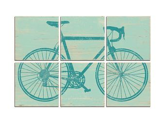 Large Road Bike Art  Large Bicycle Wall Art  Road Bicycle