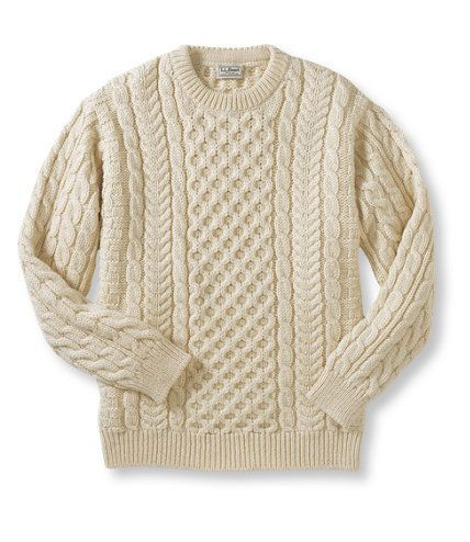 SOURCED: Cable fisherman's sweater via L.L. Bean