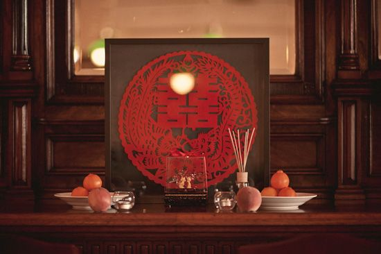 Chinese wedding alter table for traditional tea ceremony