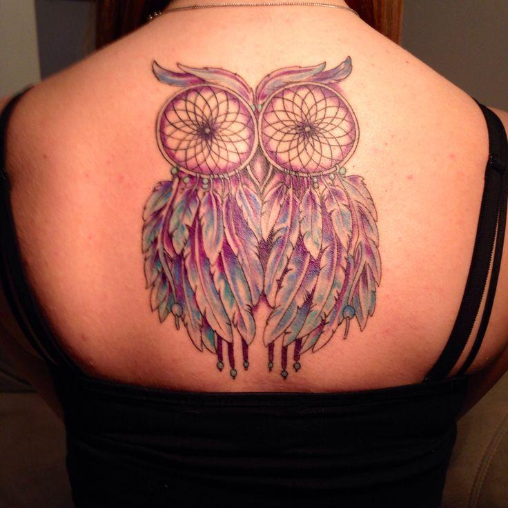 Dreamcatcher owl tattoo