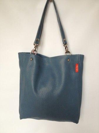 BAG FITS ALL bőr táska leather shopping bag