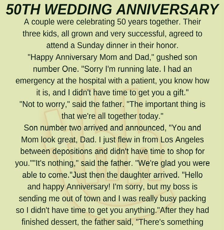 Funny Wedding Anniversary: 50TH WEDDING ANNIVERSARY! (FUNNY STORY) -