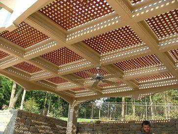 lattice deck railing ideas vinyl lattice design ideas pictures remodel and decor - Lattice Patio Ideas