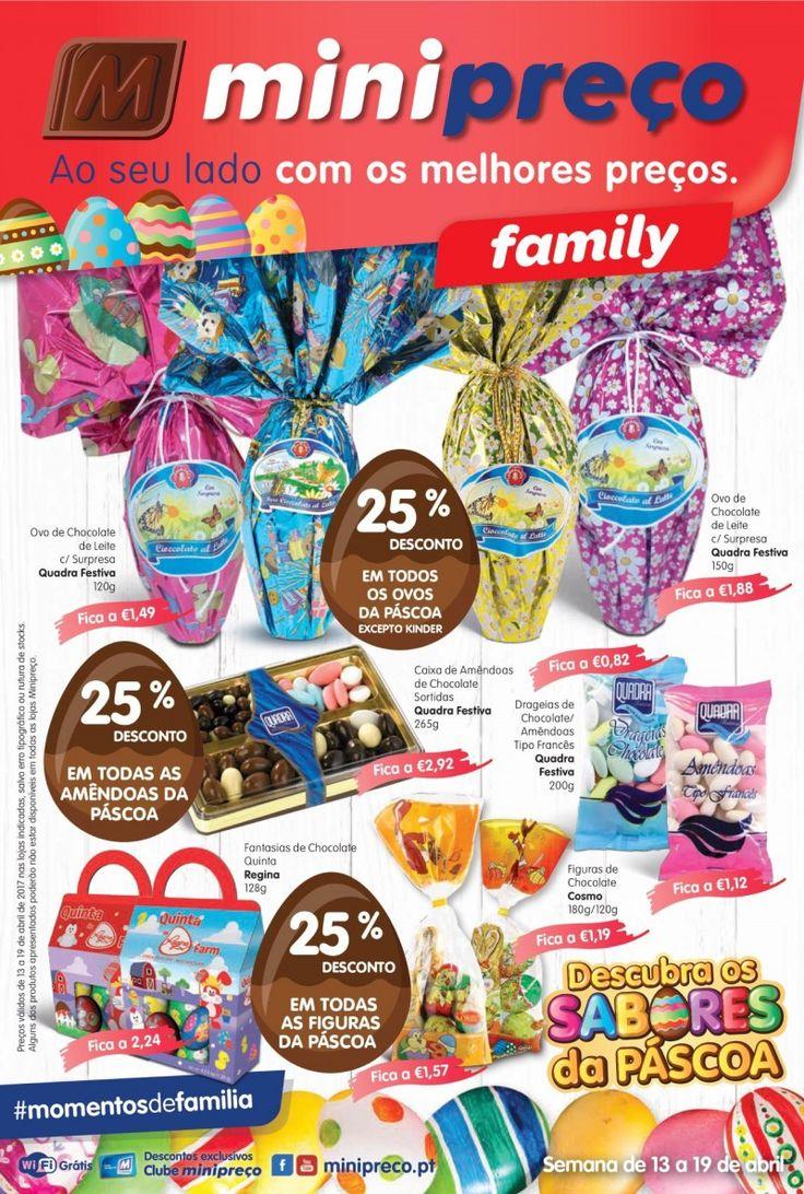 Folheto Minipreço Family em vigor de 13 a 19 Abril. Descubra os sabores da Páscoa. #Minipreço #promoções