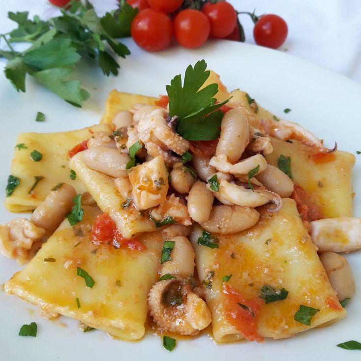 """""""Mi piace"""": 2,141, commenti: 133 - tina (@concetta.cucarano) su Instagram: """"BUON APPETITO.. PACCHERI CON SEPPIE E FAGIOLI.. UNA  VERA BONTÀ  DA PROVARE  #cooking_illife…"""""""