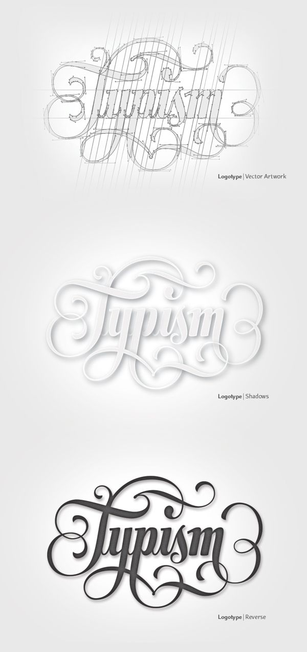 Typism | Logotype by Aurelie Maron, via Behance