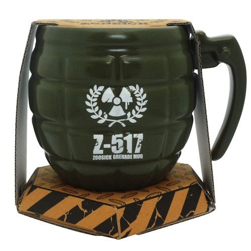 Grenade Mug - These green grenade mugs are standard issue coffee equipment for Russia's elite Spetznaz force.  Well, actually that's not true, but if they COULD choose their mug, we're pretty sure this would be it!