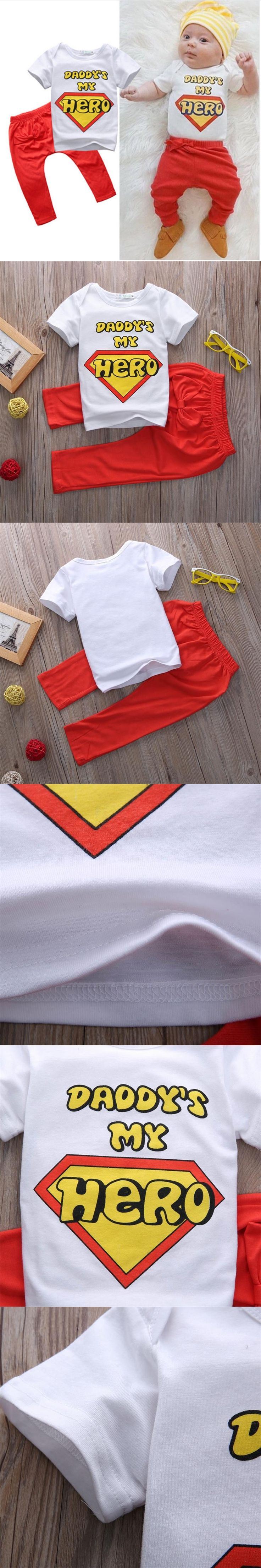 New Toddler Kids Baby Boy T shirt Tops Long Pants Trousers Outfits Clothing Set