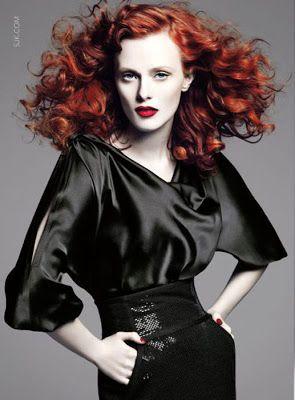 Afbeeldingsresultaat voor fashion model redhead face