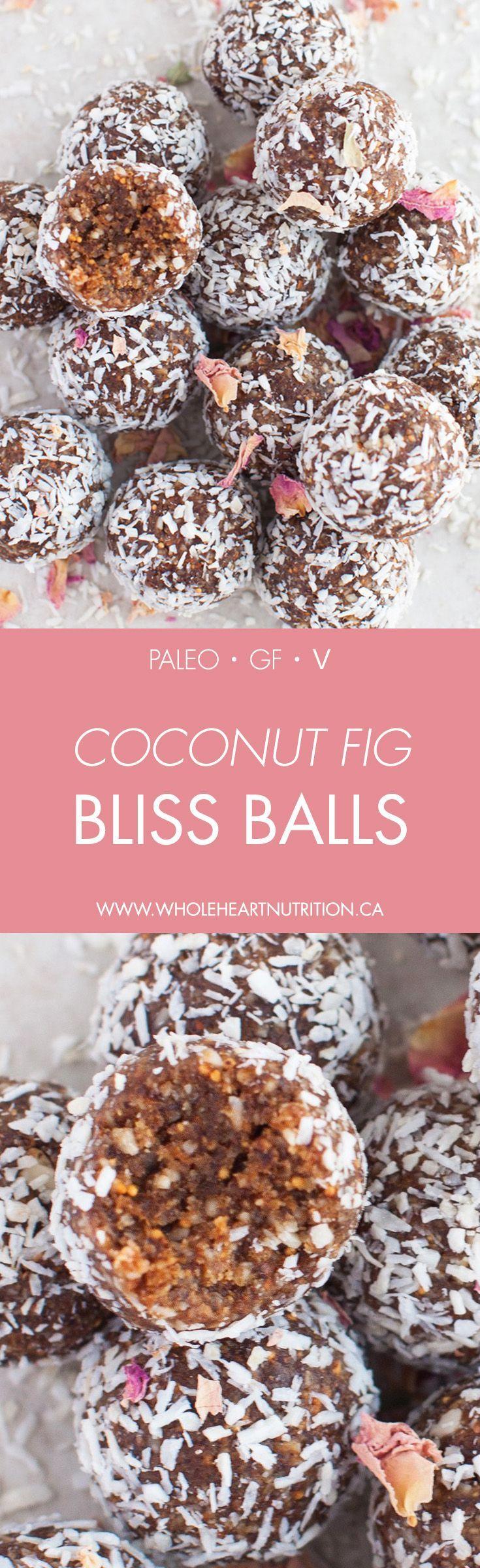 Coconut Fig Bliss Balls - Wholeheart Nutrition