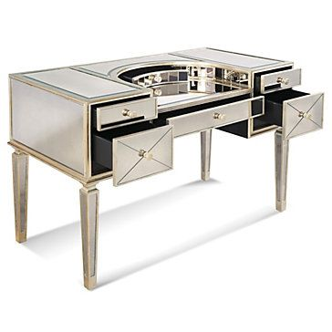 borghese mirrored furniture. Borghese Mirrored Vanity Desk Furniture D
