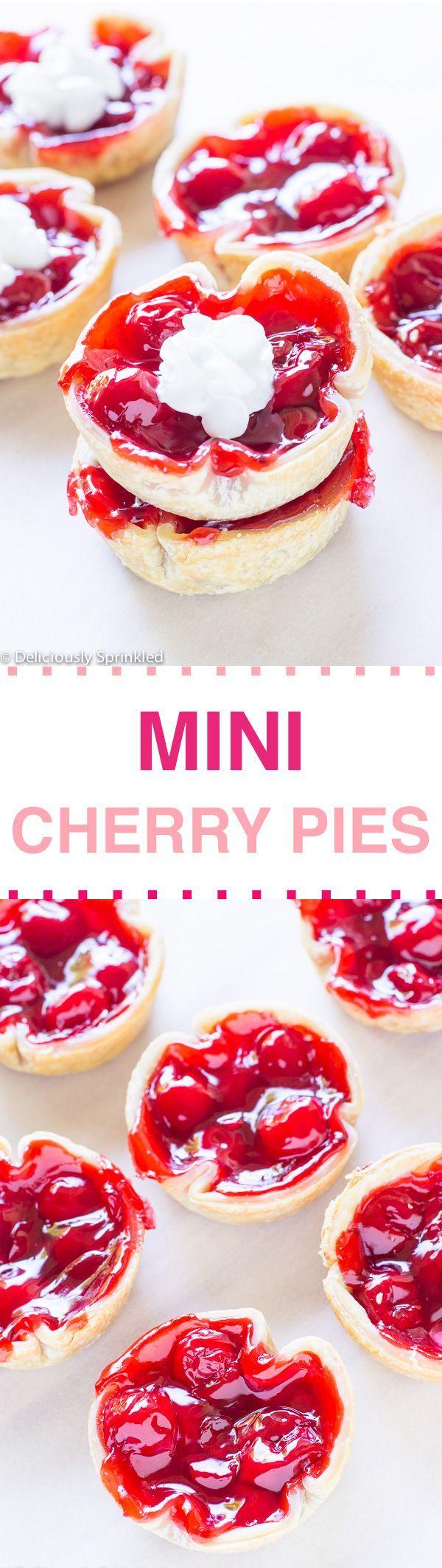 about Mini Cherry Pies on Pinterest | Cherry pie cupcakes, Cherry ...