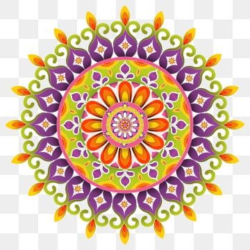 Traditional Diwali Rangoli Art Mandala Design Floral Graphic Shapes 3d 3d Mandala Abstract Png And Vector With Transparent Background For Free Download In 2021 Mandala Background Free Graphic Design Holiday Illustrations