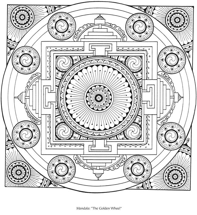 221 best images about diy printable coloring pages for for Tibetan mandala coloring pages