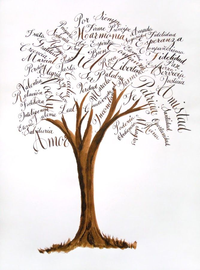 caligrama-arbol-caligrafia-inglesa