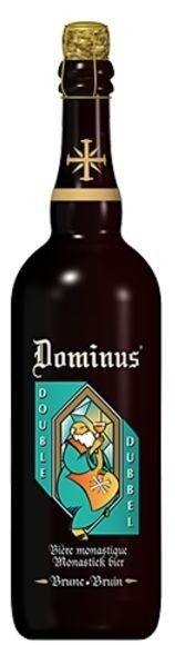 Cerveja Dominus Double, estilo Belgian Dubbel, produzida por John Martin, Bélgica. 6.5% ABV de álcool.