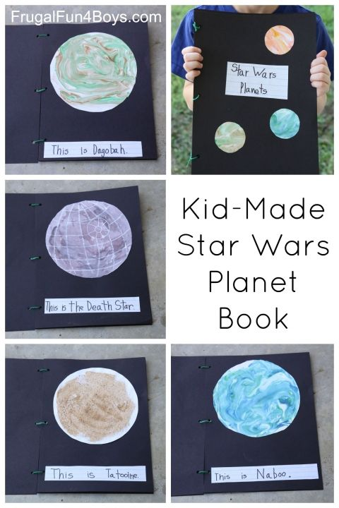 Kid-Made Star Wars Planet Book