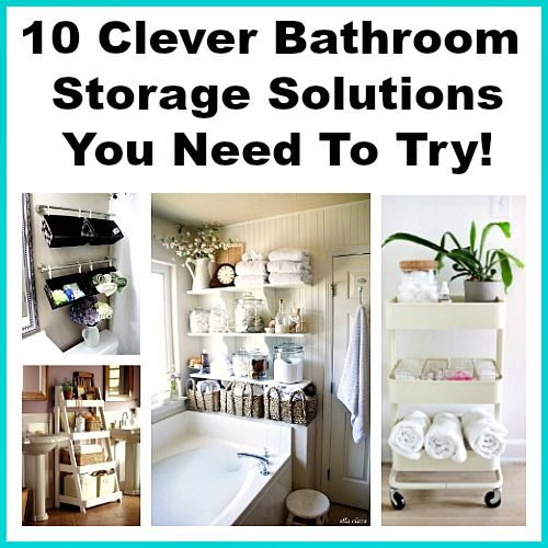 98 best organize it images on pinterest organization - Clever storage ideas for small bathrooms ...