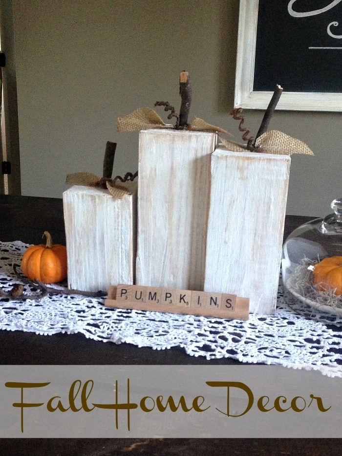 Repurpose wood into fall home decor with this DIY project using old wood and sti…