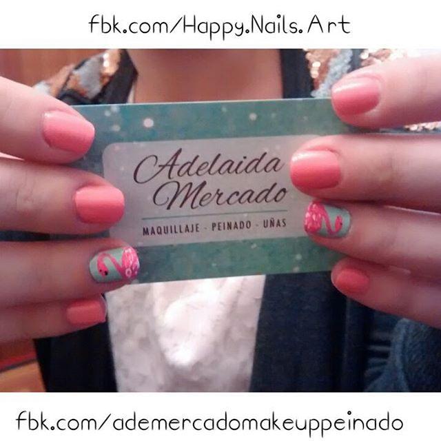 Debi eligió los colores de 880 #kelpyourself & 185 #GiantPeach de @sallyhansenarg con un nail Art de flamencos rosas. ¿Vos también querés tener tus #uñas lindas con un #nailart que te encante?   Envianos un mensaje privado ó mail a mercadomakeup@gmail.com y reserva tu turno.    #naildesign #notd  #nailartaddict #nailartoohlala  #sallyhansen #butterflykisses #picoftheday #uñasdecoradas #adelaidamercadomakeup