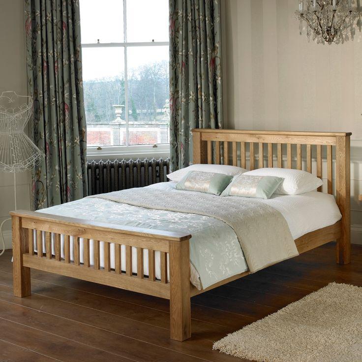 hampton oak bed frame - King Bed Frame Wood