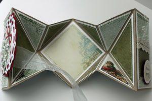 By Beate Johns. Diamond Fold Card and Reverse Diamond Fold Card. Tutorial