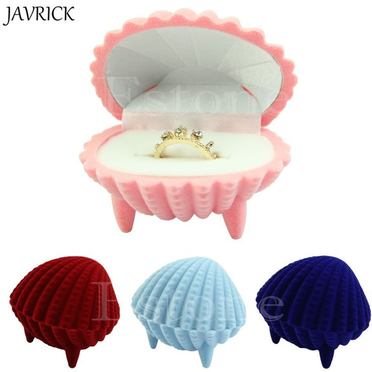 Cheap velvet ring box, Buy Quality ring box directly from China jewelry container Suppliers: JAVRICK Elegant Shell Shape Velvet Rings Box Pendant Locket Jewelry Container Case New ZB380