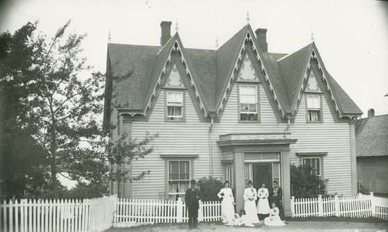 Family in Front of House, Guysborough, NS ca. 1900