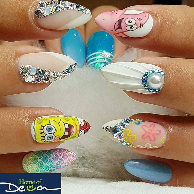 SpongeBob Nails design from @home_of_deva -  Can you give SpongeBob his brain back? I had to borrow it for a week  . Shop nail art supplies at wiinoshop.com ❤ . . . #SpongeBob #SquarePants #nails #nailart #instanails #nailswag #nailpro #nailaddict #nailedit #nailporn#nailprodigy #nailmagazine #naildesigns #nailtech #potd #notd #nailsoftheday #nailofinstagram #nailpromote #nailpolish #nailstagram #nailartclub #nailartoohlala #nailartswag #nails2inspire #nailartjunkie #nailartideas #cutenai...
