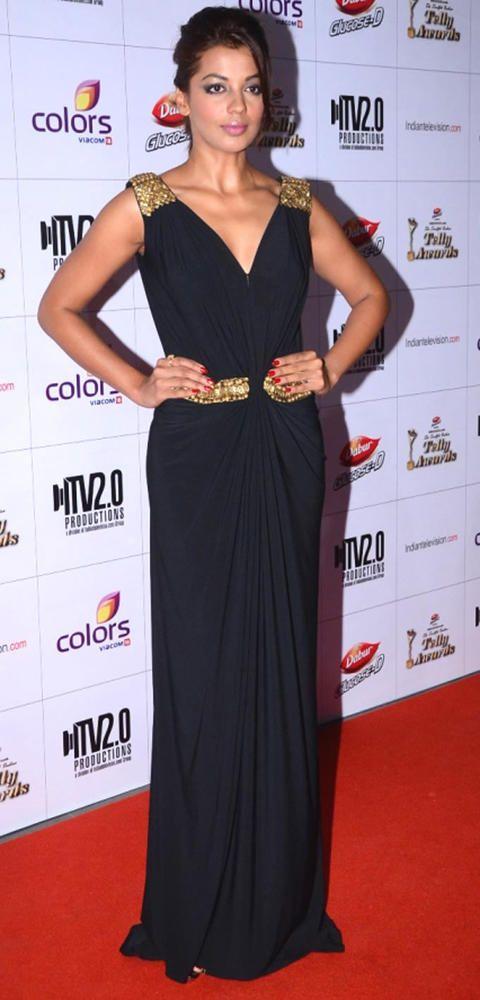 Mugdha Godse at the Indian Telly Awards 2013 #Bollywood #Fashion