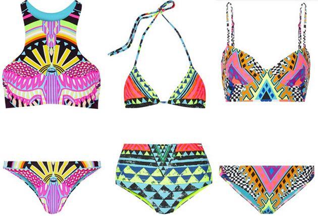 Triangel Bikini mit Fransen - Bridge, Bandeau, Push Up & Spitze