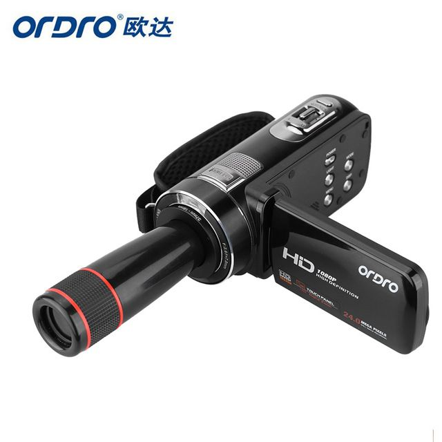 ORDRO HDV-Z8 1080P Full HD Digital Video Camera 24 MP LCD Touch Screen Camcorder with 12x Telephoto Lens Support Face Detection US $84.81 To Buy Or See Another Product Click On This Link  http://goo.gl/EuGwiH