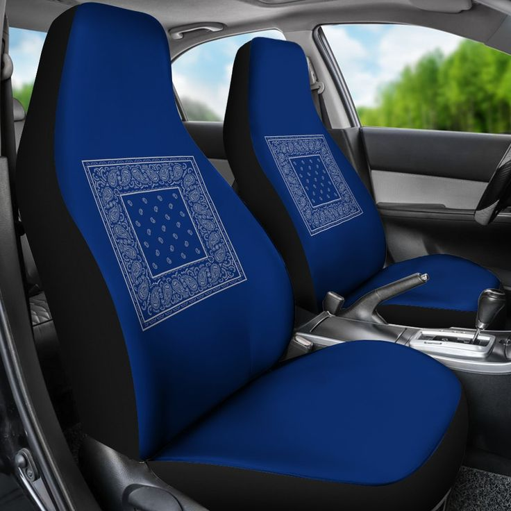 Blue And Gray Bandana Car Seat Covers, Dodgers Baby Car Seat Covers