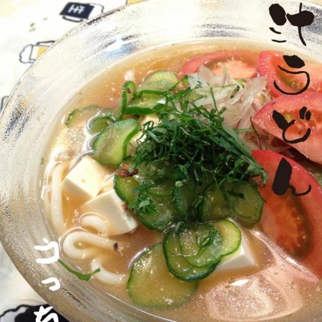 今日はむわぁ〜…っと暑かったので、あっさりと簡単冷汁にうどんを入れてみました♪ つるつるっと食べやすかったです☆  久しぶりに残業もなかったので、家でゆっくり夕飯ができました♪  2013.08.20 - 86件のもぐもぐ - 「きゅうりと豆腐の冷や汁」にうどん入れてみた☆ by atsu1143