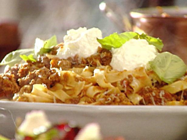 Tagliatelle Bolognese  Recipe courtesy Tyler Florence