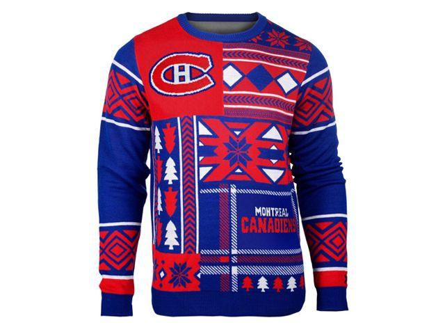 Chandail de Noël laid des Canadiens de Montréal