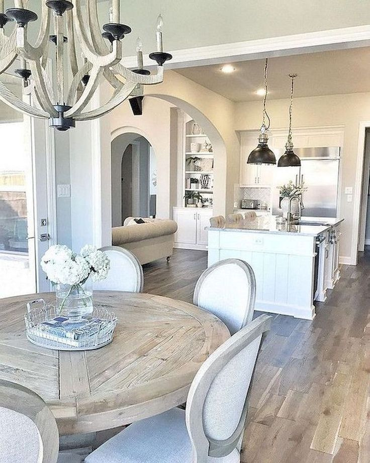 Modern French Country Dining Room Table Decor Ideas 49 Farmhouse Kitchen Design Farmhouse Dining Room Home