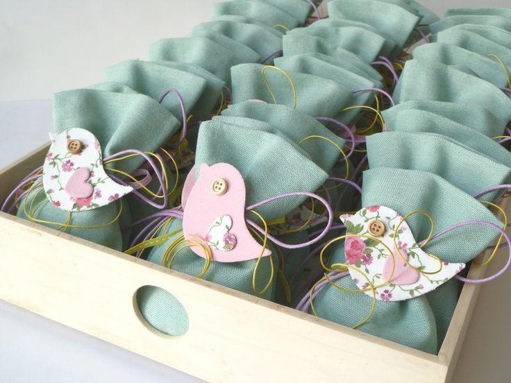 craft room - γάμος, βάπτιση, διακόσμηση: μπομπονιέρες πουλάκια shabby chic