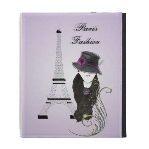 This is a fabulous unique vintage inspired design with a beautiful girly fashion image, Paris Eiffel Tower on a misty purple background. #paris #france #trendy #cool #personalized #purple #fashion #vintage #hipster #eiffel #tower #travel #caseable #ipad #folio #ipads #accessories #case #cases #cover #covers #protection #name #monogram #girly #landmarks #famous #buildings #image #picture
