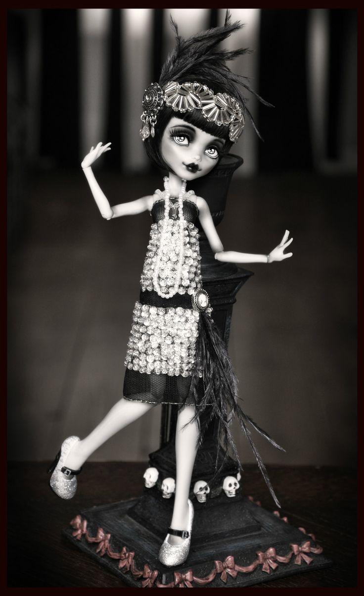 "OOAK Monster High Frankie ""Florence The Flapper"" Custom Doll Great Gatsby Silvee   eBay"