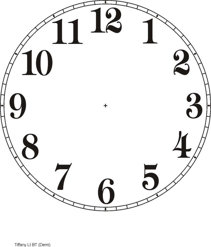 Printable Clock Templates | Here are a few examples: