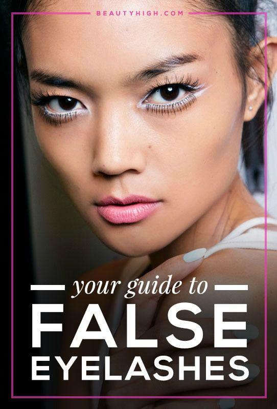 how to put on individual fake eyelashes