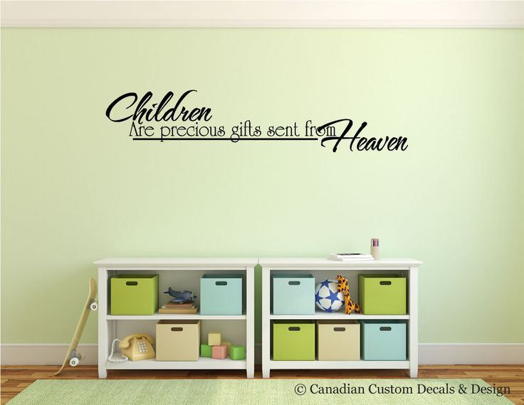 Children are precious gifts sent from Heaven - Vinyl Wall Decal - Nursery Room - Childrens Room - Wall Art - Home Decor - Playroom - Kid by CanadianCustomDecals on Etsy