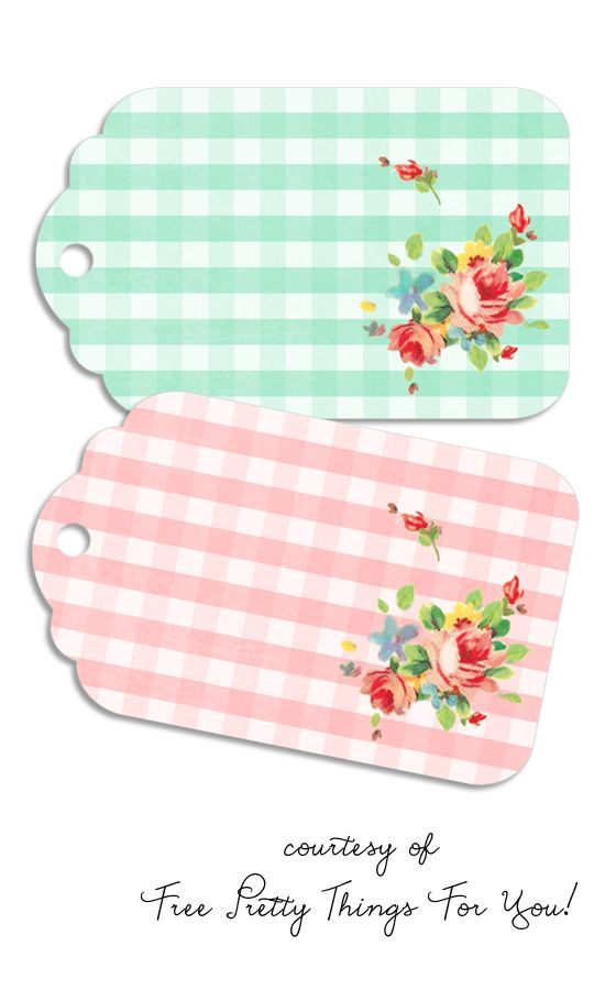 Gift Tags: Gingham Spring Printables - Free Pretty Things For You