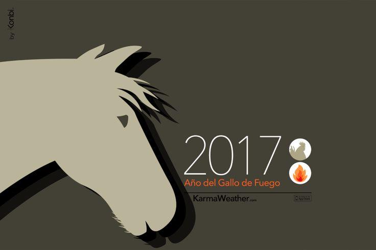 Caballo 2017 - Horóscopo chino 2017 para el signo del #caballo durante el Año del Gallo 2017. Por Karma Weather #zodiaco #horoscopo #anonuevo #anonuevochino #karmaweather