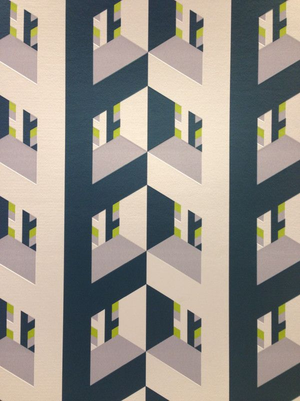 This wallpaper with a three-dimensional pattern was designed Lars Contzen for A.S. Création was pretty trippy.