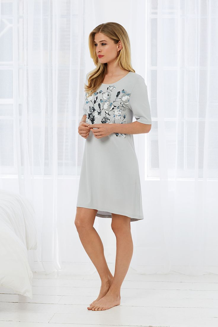 Pastunette Deluxe spring rose garden flowers soft romantic 3/4 sleeve day/nightwear