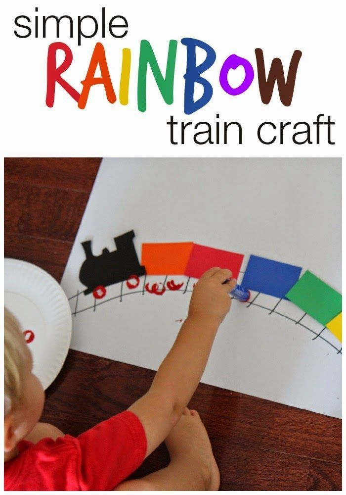 Simple Rainbow Train Craft for Kids